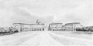 Nuova piazza alla porta di Nizza, 1845